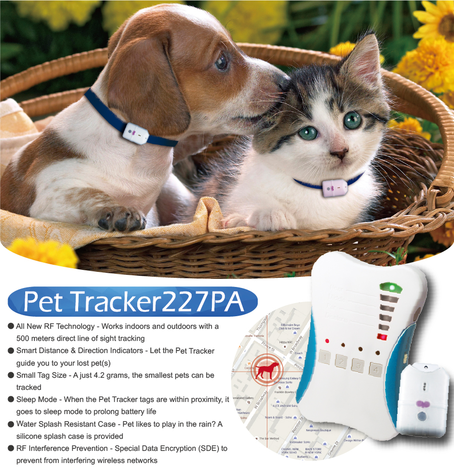 Taiwan Ardi Pet Finder 227PA4 Pet Tracker for dog cat 500m 1600